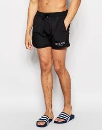 Черные пляжные шорты с логотипом Nicce - Черный