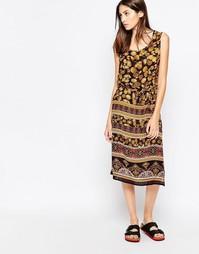 Платье миди с принтом листья Brave Soul