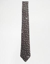 Галстук в горошек 7 см Vivienne Westwood - Серый