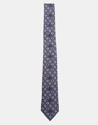 Галстук с фирменным принтом Vivienne Westwood 7 см - Темно-синий