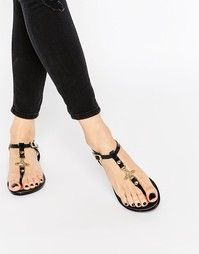 Черные сандалии с логотипом-орбитой Vivienne Westwood For Melissa