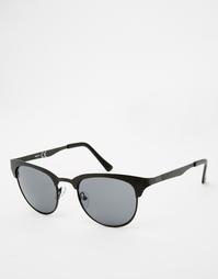 Черные солнцезащитные очки в стиле ретро и фактурной оправе ASOS
