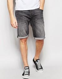 Серые джинсовые шорты с эффектом поношенности Lee - Grey worn