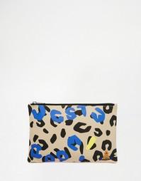 Клатч с леопардовым принтом Vivienne Westwood Anglomania