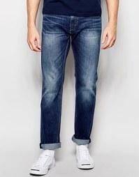 Темные поношенные прямые джинсы стретч Levi's 504 - Cloudy Levi's®