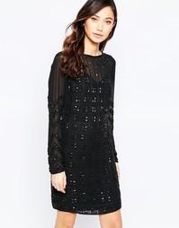 Платье мини с геометрической отделкой Virgo's Lounge Xenia - Черный