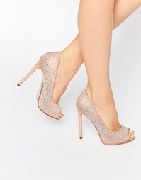 Туфли на платформе с открытым носком ASOS PEARL - Телесный