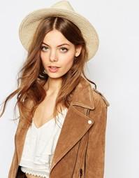 Соломенная шляпа-федора Becksondergaard - Песок
