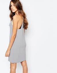 Трикотажное платье Neon Rose - Серый