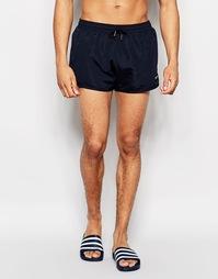 Темно-синие пляжные шорты в стиле ретро Nicce - Темно-синий