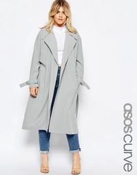 Длинное пальто ASOS CURVE - Утиное яйцо