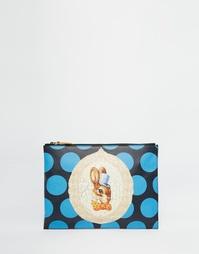Синий клатч с кроликом Vivienne Westwood - Черный