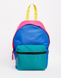 Миниатюрный рюкзак колор блок ASOS - Мульти