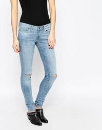 Облегающие джинсы стретч Noisy May Eve 32'' - Светло-голубой