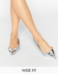 Балетки для широкой стопы с острым носком ASOS LEAPFROG