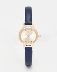 Часы с небольшим циферблатом и узким ремешком ASOS - Темно-синий