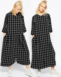 Платье-комбинезон в стиле oversize ASOS WHITE