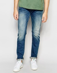 Выбеленные эластичные джинсы скинни Diesel Jeans Tepphar 850U