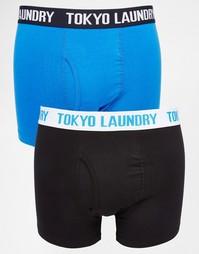 Комплект из 2 пар боксеров‑брифов с контрастным поясом Tokyo Laundry