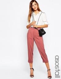 Фактурные брюки-галифе ASOS TALL - Blush