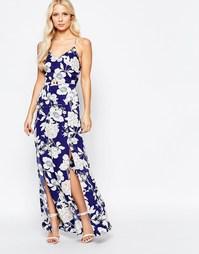Платье макси с цветочным принтом Parisian - Синий