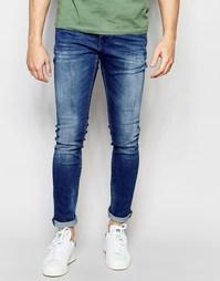 Светлые винтажные джинсы скинни Replay Mirhal