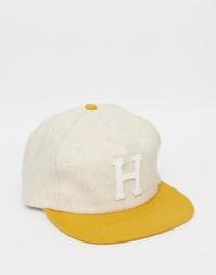 Классическая шерстяная кепка с ремешком на затылке HUF - Бежевый