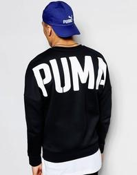Свитшот с принтом на спине Puma Evolution - Черный