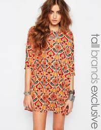 Цельнокройное платье с цветочным принтом Noisy May Tall - Мульти