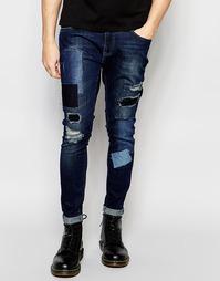 Рваные джинсы скинни с заплатками Brooklyn Supply Co