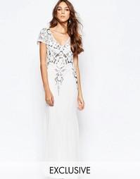 Платье макси с отделкой на лифе и тюлевой юбкой Frock and Frill