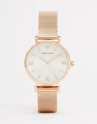 Часы цвета розового золота Emporio Armani Gianni - Золотой