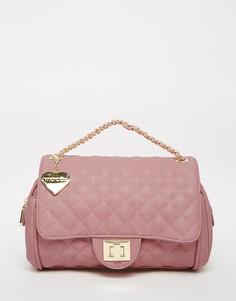 Стеганая розовая сумка на плечо Marc B - Розовый шербет