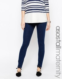 Зауженные джинсы цвета индиго для беременных ASOS Maternity TALL Ridle