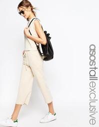 Пастельные меланжевые брюки для дома ASOS TALL - Oatmeal