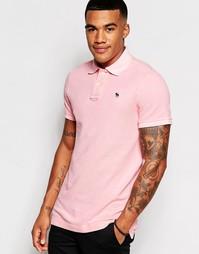 Розовое облегающее поло Abercrombie & Fitch - Розовый