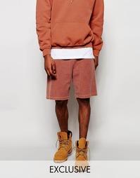 Крашеные шорты Reclaimed Vintage - Красно-бурый