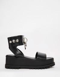 Черные сандалии на толстой подошве UNIF Vault - Черный