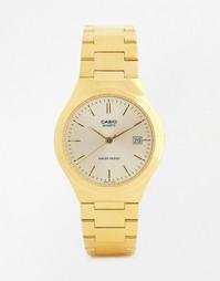 Золотистые часы с ремешком из нержавеющей стали Casio MTP1170N-9A