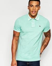 Зеленая футболка-поло кроя слим Abercrombie & Fitch - Зеленая мята