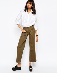Юбка-брюки с широкими штанинами Monki - Хаки
