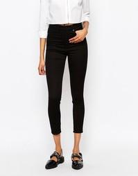 Укороченные джинсы скинни Monki Oki - Черный