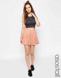 Фактурная короткая расклешенная юбка ASOS TALL - Blush