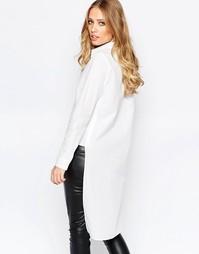 Рубашка с длинной спинкой Y.A.S Abra - Снежно-белый