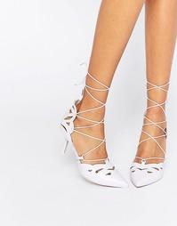 Туфли на каблуке со шнуровкой ASOS SIREN - Сиреневый