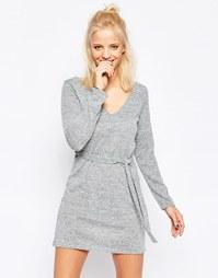 Платье с завязкой на талии Influence - Серый