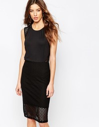 Платье Y.A.S Check - Черный