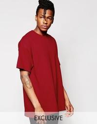 Oversize-футболка Reclaimed Vintage - Burgundy