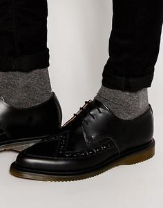 Туфли дерби на шнуровке Dr Martens Ally - Черный