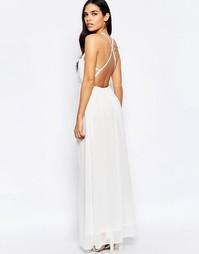 Платье макси с лямками сзади Oh My Love - Белый